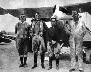 Pilotos dos aviões que iriam bombardear a ditadura.