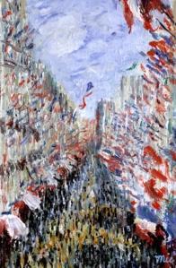 La Rue Montorgueil, 1878,  Claude Monet (França 1849-1926), O/T,  Musée D'Orsay, Paris