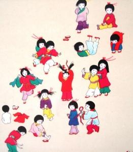 Crianças orientais, ilustração de DEMI.
