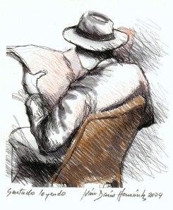 Homem sentado lendo, 2004, Ivan Dario Hernandez (Venezuela, 1955)