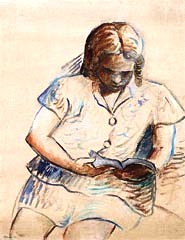 Tarsila do Amaral (Brasil 1890-1973) Beatriz lendo, 1965