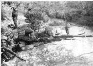 Batalhas nas trincheiras em 1932, foto da coleção de Carlos Souza Nazar