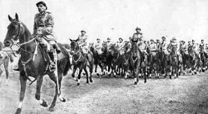 Cavalaria preparada para a guerra.