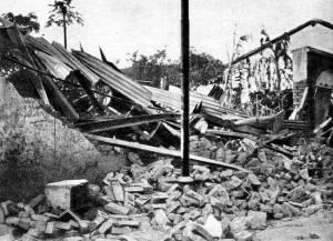 Cidade de Guara, após o bombardeio, 1932