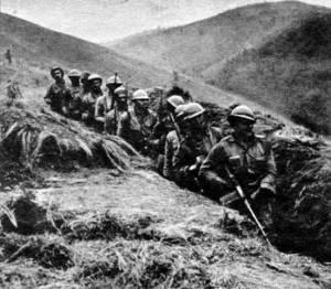 Soldados nas trincheiras, Revolução de 1932