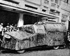 Um dos tanques paulistas