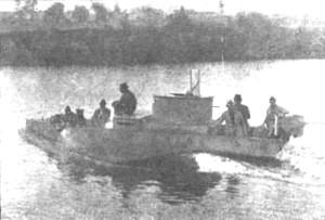 Barco blindado no Rio Tietê, Revolução de 1932