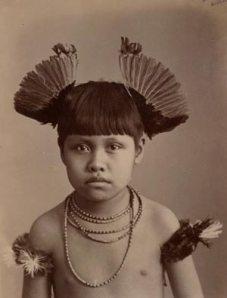 Menino Índio de Mato Grosso.  Foto de MARC FERREZ, 1896.