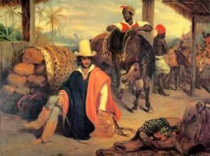Charles Landseer (Inglaterra 1799-1879) Tropeiro Paulista, 1827, ost,