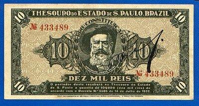 Nota paulista de 10.000 réis.