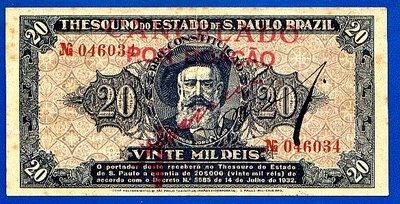 Nota paulista de 20.000 réis.