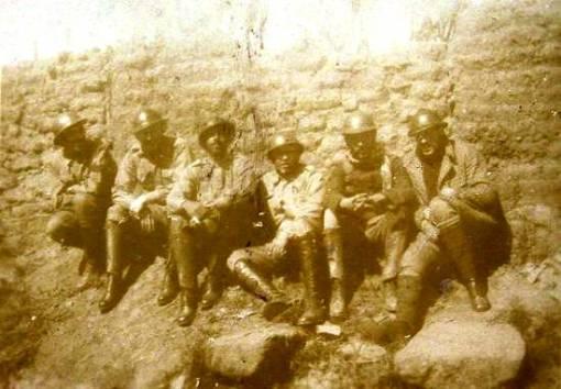 Grupo de combate, trincheira de Santos, 1932