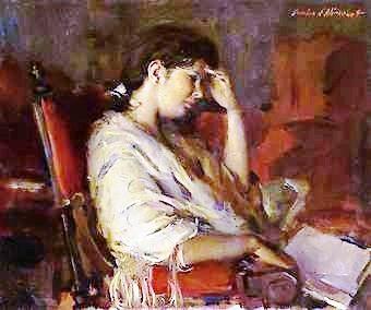 Pausa na leitura, 1964, Aurélio d'Allincourt, (Brasil 1919-1990), ost