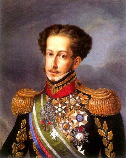 D. Pedro I, o Defensor Perpétuo do Brasil, 1830, por Simplicio Rodrigues de Sá, Museu Imperial de Petrópolis