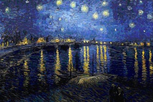 Noite estrelada à beira do Reno, 1888, Vincent Van Gogh (Holanda 1853-1890), 72,5 x 92 cm, Musée d'Orsay, Paris