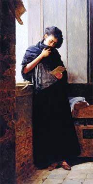José Ferraz de Almeida Jr, (Brasil 1850-1899), Moça lendo carta