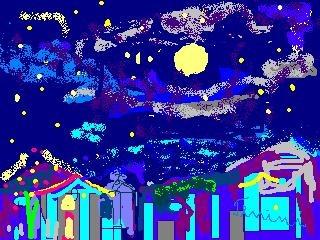 Lua Cheia, Arte digital de TENINI
