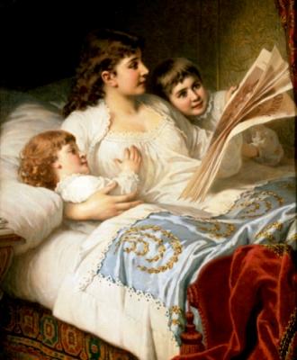 anton-ebert-1845-1896-alemanha-bedtime-story-1883