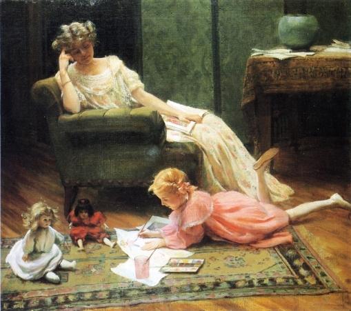 charles-courtney-curran-eua-1861-1942-dollys-portrait-1909
