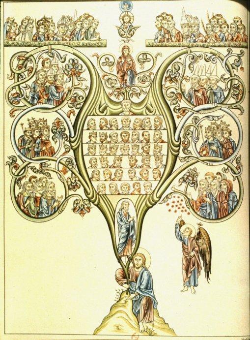 tree-of-jesse-herrad-of-hohenburg-hortus-deliciarum-antes-de-1195-desenho-colorido