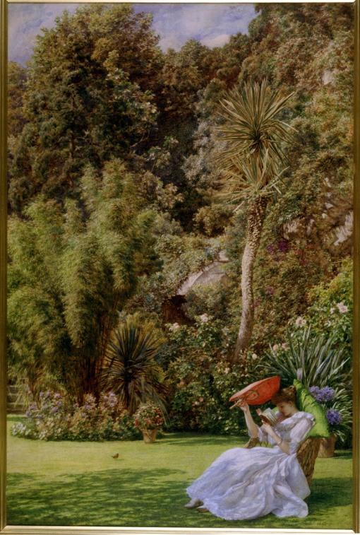 edward-john-poynter-gb-1836-1919-in-a-garden-1891aquarela-20x30