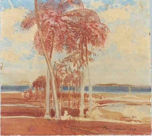 bruno-lechowski-polonia-1887-brasil-1942-renque-de-palmeiras-1927aquarela-44-x-49cm-col-wanda-lechowski