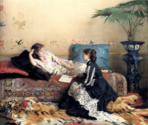 gustave-leonhard-jonghe-belgica-1829-1893-idle-moments-ost