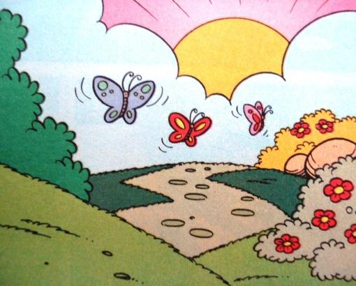 borboletas na paisagem