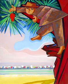 Cicero_dias_MeninoCajue recife ao fundo, 1970s, ost,70x63