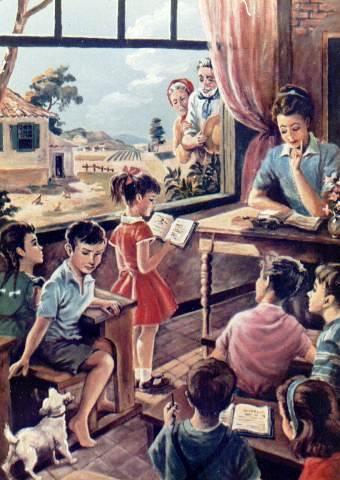 escola, ilustração de Diva de Val Golfieri