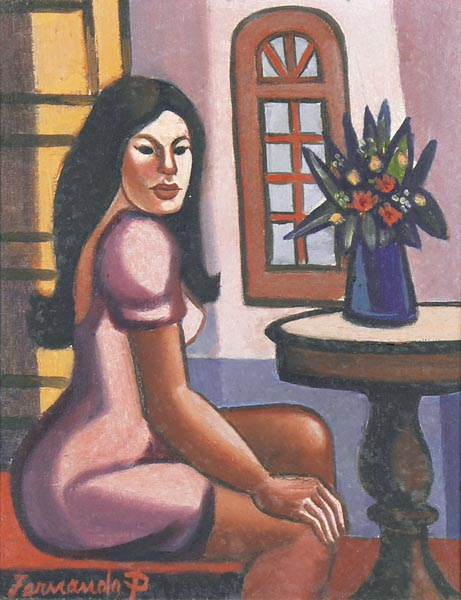 Fernando P, Mulata Sentada, ost, 24 x 20 cm