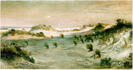 hENRY OSSAWA TANNER, aTLANTIC CITY, 1885,OST, 73 X 137 CM