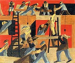 jacob_lawrence, (1947) tempera sobre madeira, 50 cm x 60 cm
