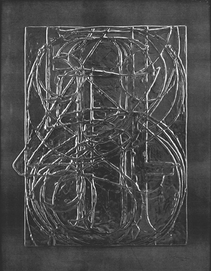 Jasper Johns, 0 through 9, embossed lead relief, 30 x 23,5 inches