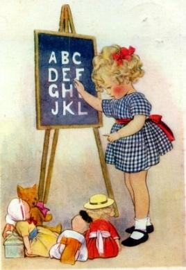 Ilustração de Susan B. Pearse, 1923 -- cartão postal