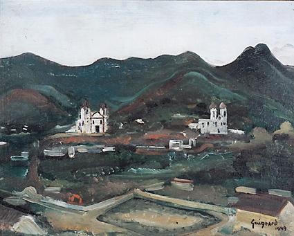 alberto da veiga guignard,Sabará, 1949,osm 38x47,