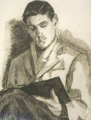 Arcangelo Ianelli, Leitura, 1945, desenho  a carvão, 55 x 43