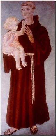 Candido Portinari antonio_padura, pintura mural tempera, 180 x 75 cm Museu Casa de Portinari, BrodowskiSP