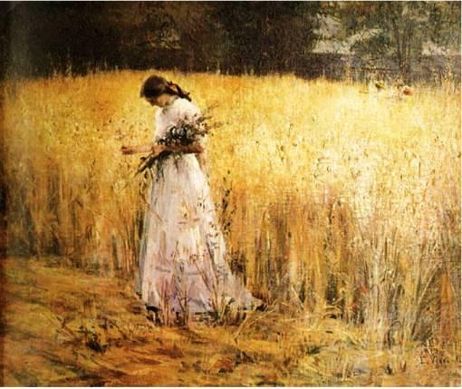 Eliseu Visconti, moça no trigal,1913,ost,65x80