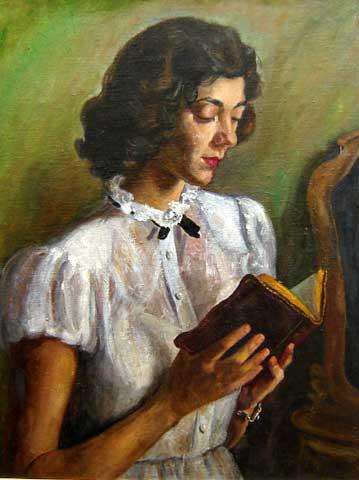 LuciliaFRaga(1895-1979)Leitura,osm,62x46
