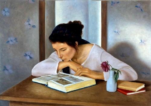 silvana cimieri (Italia 1964) O livro Azul, 1994,ost,70x50cm