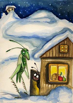 A Cigarra bate à porta da formiga, no inverno