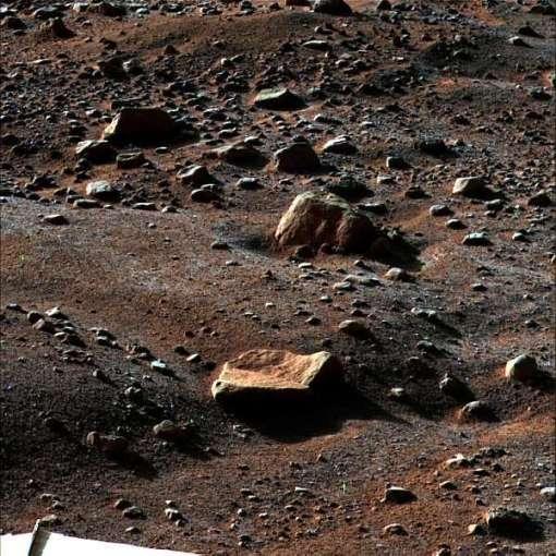 geada-depositada no solo de Marte
