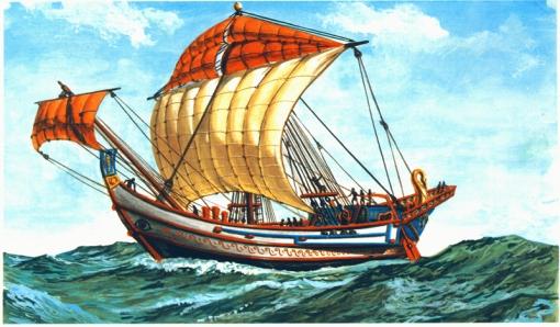 navio romano reconstrução