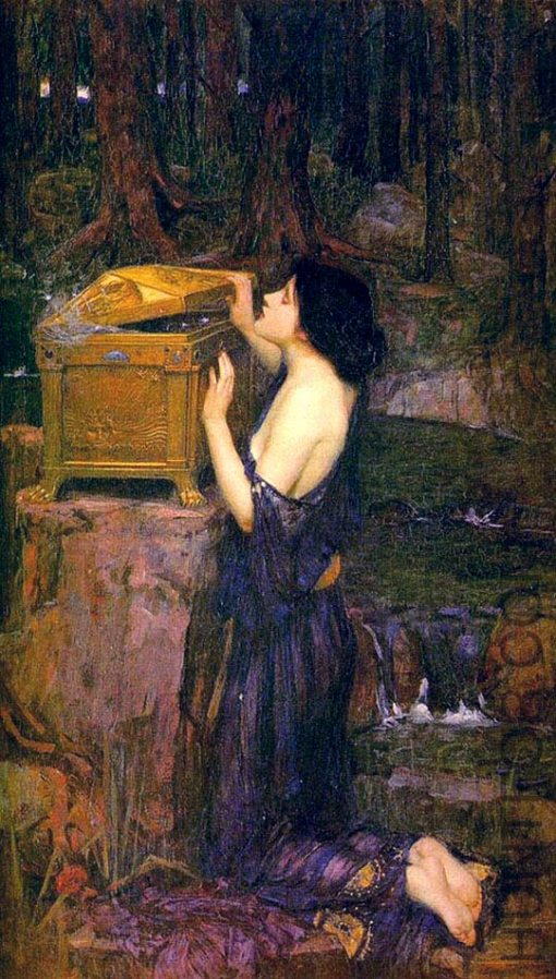 Pandora,jw Waterhouse, 1896