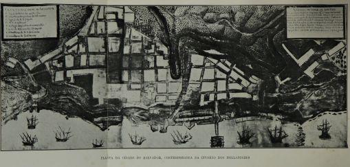 Planta da cidade de Salvador, contemporânea da invasão dos holandeses, História do Brasil