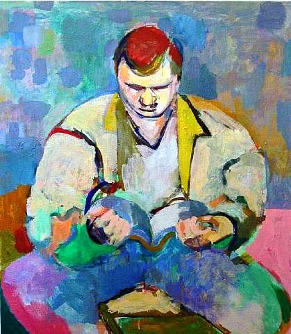 Ro Lohin (EUA, contemp), Subway Reader, 2005,ost