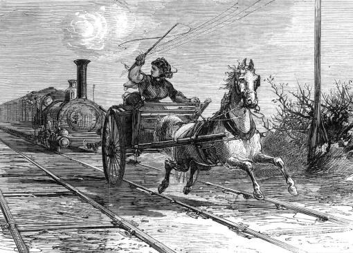 trem e cavalo