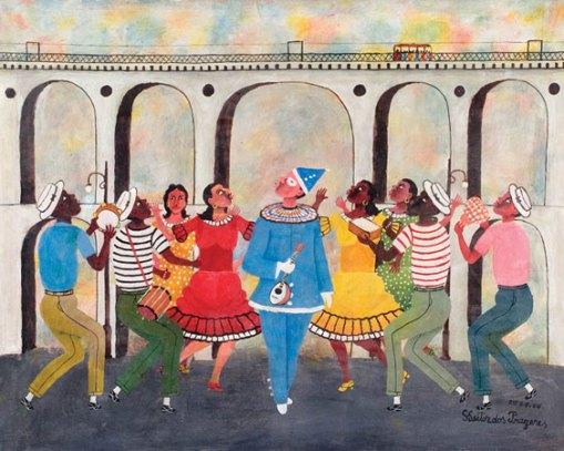 Arcos da Lapa, Heitor dos Prazeres,(1898-1966), ost, 1964, Samba nos Arcos da Lapa