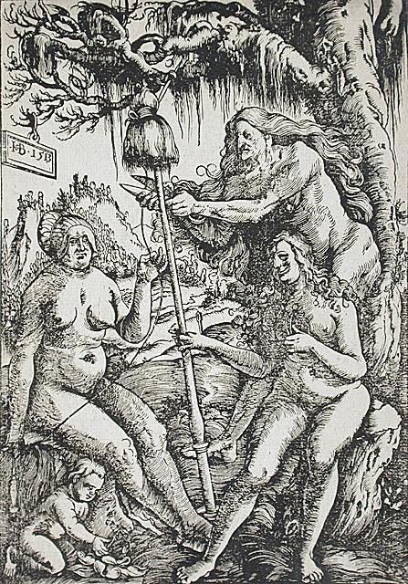 As Parcas, 1513, Hans Baldung Green ( Alemanha 1484-1545) xilogravura, Museu de Arte do Condado de Los Angeles, EUA